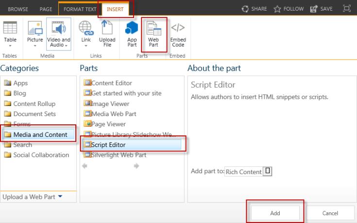 Add Script Editor