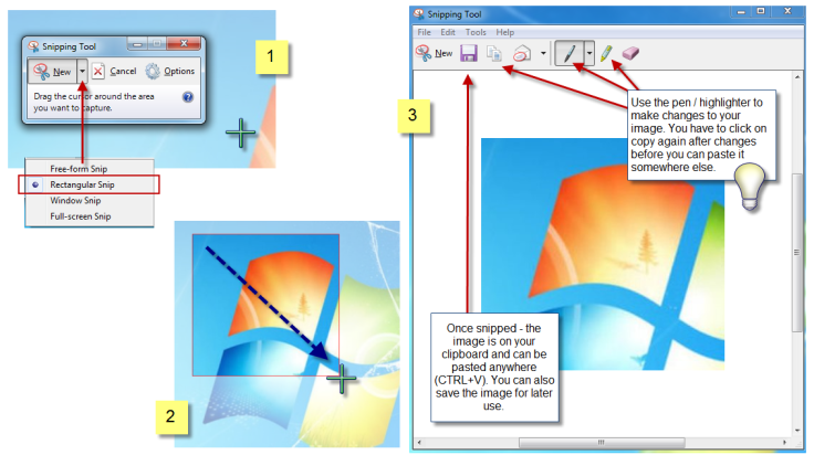 Using Snipping tool2