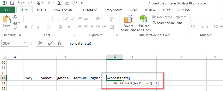 day 44 excel sharepoint formulas using commas or semicolons