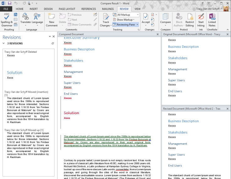 Compare Word Documents 3