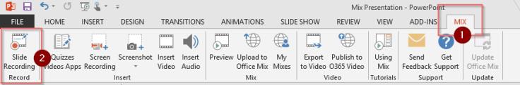 Mix Slide Record 1