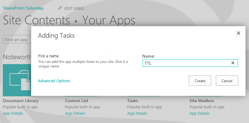 Day 75 – SharePoint Apps – Building a Task List – Tracy van