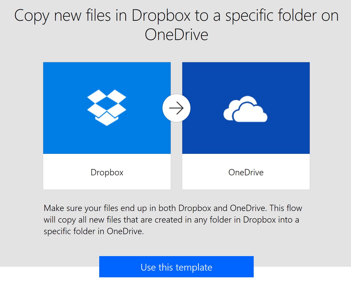 Day 254 – Flow: Copy new files in Dropbox to a specific