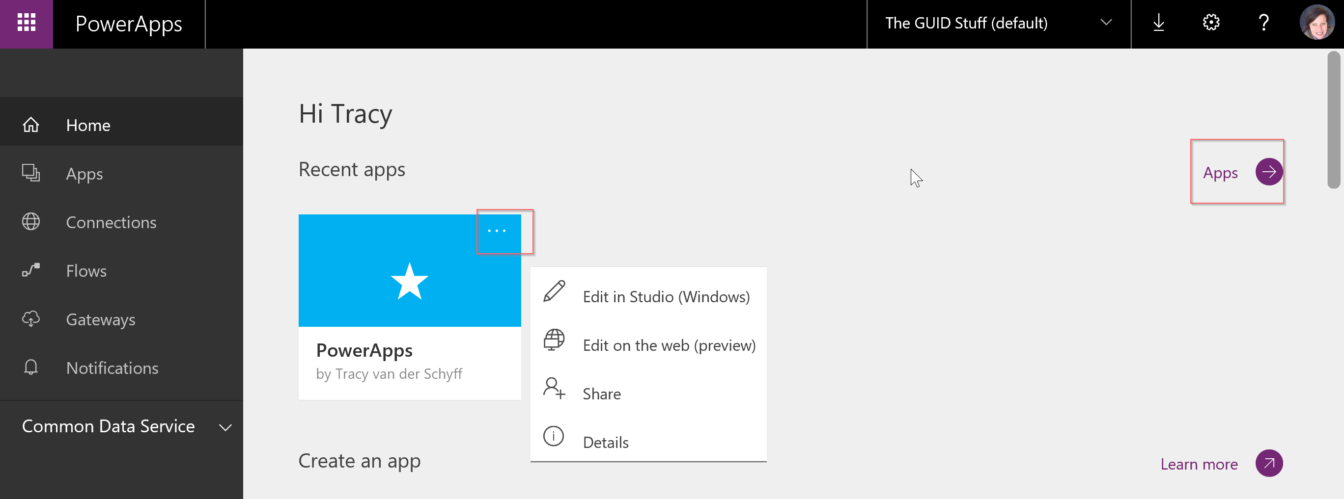 Powerapps Notification Connection Name