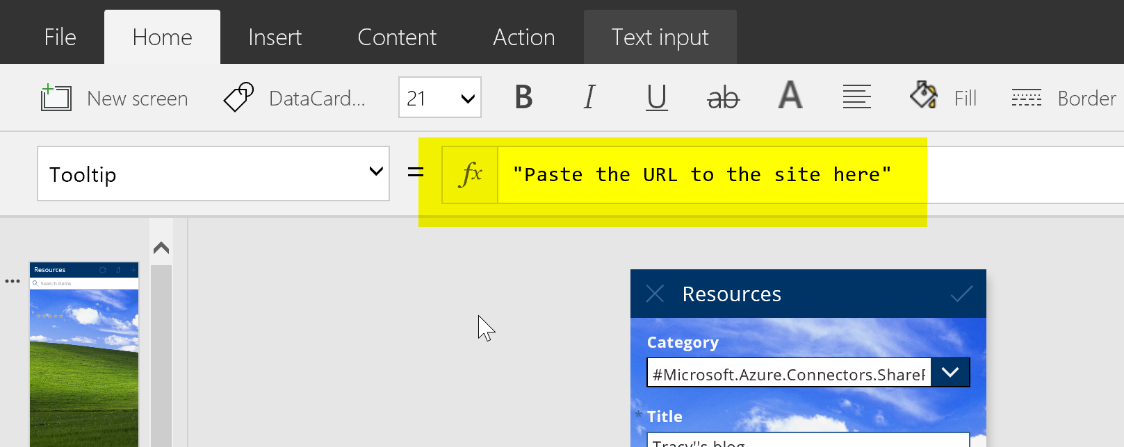 Day 261 – PowerApps: Adding Tooltips to your fields – Tracy