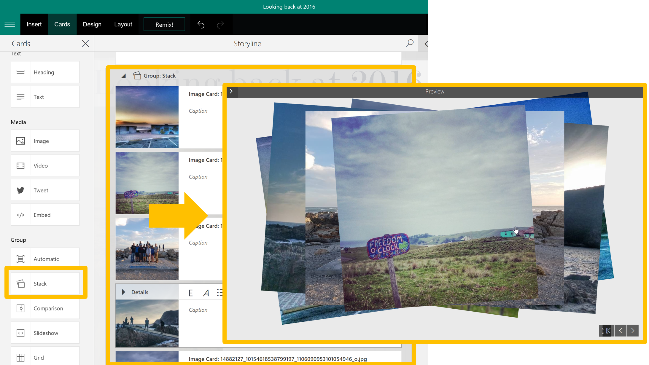 Day 302 – Working with Images in your Microsoft Sway – Tracy