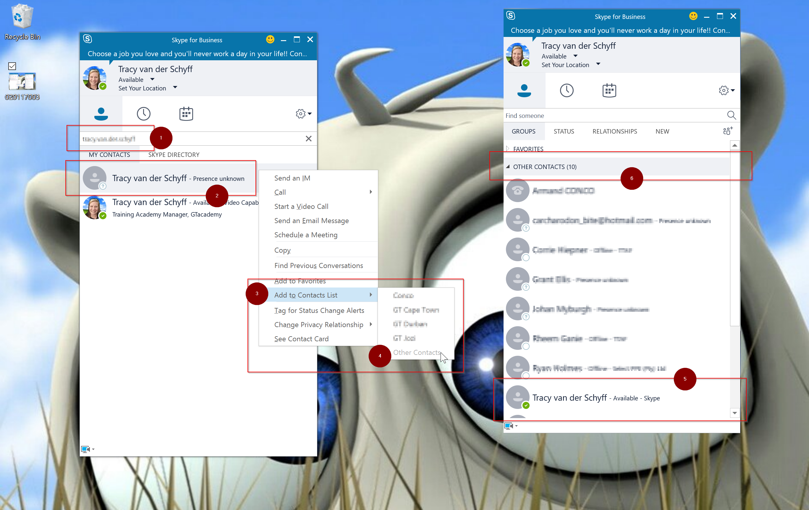 Day 308 – Finding and Adding Contacts in Skype for Business