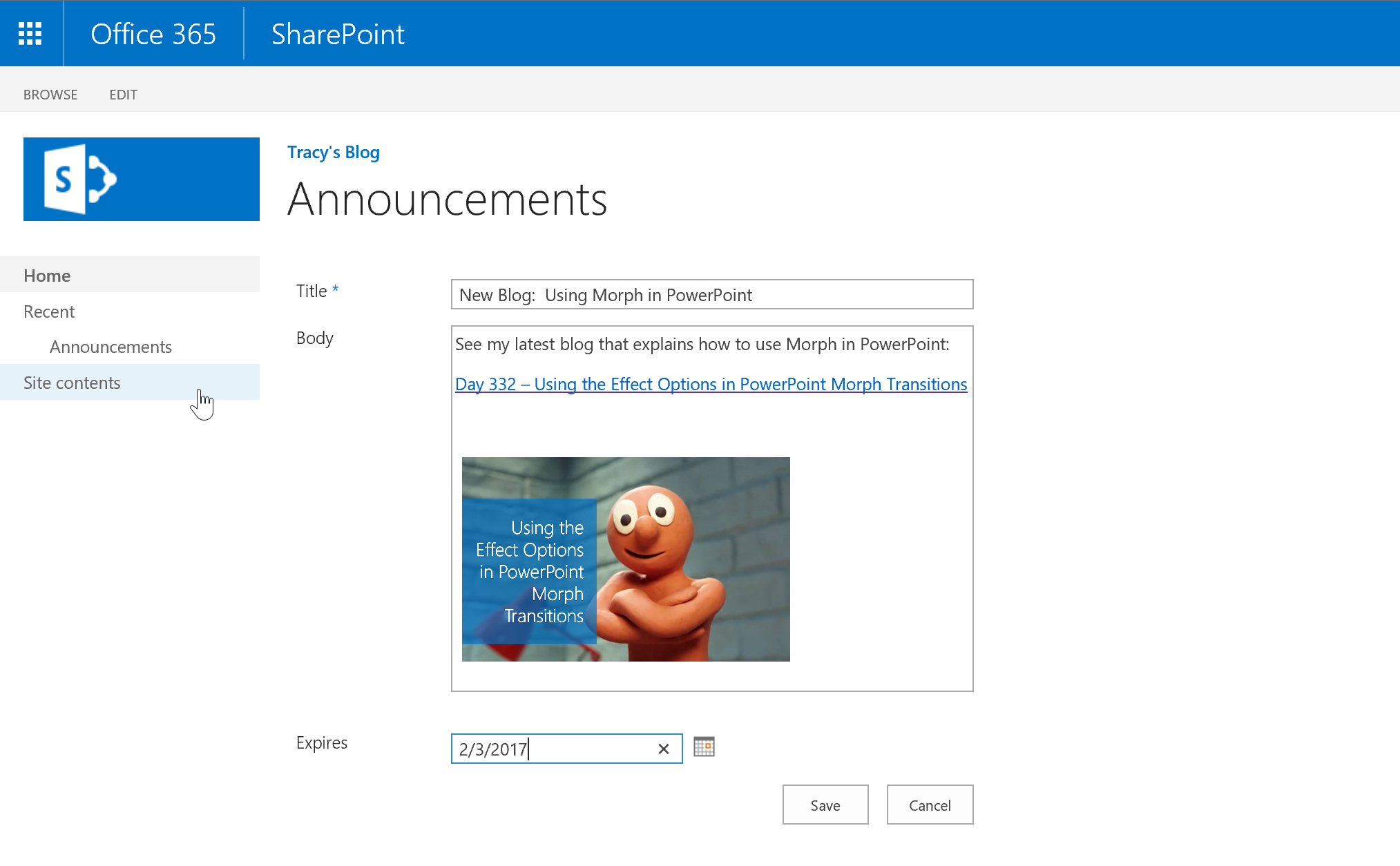 Day 335 – 7 Ways to Promote your SharePoint Blog – Tracy van