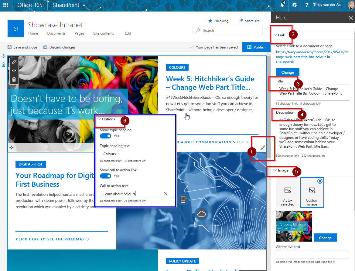 Week 7: Hitchhiker\'s Guide – SharePoint Communication Sites using ...