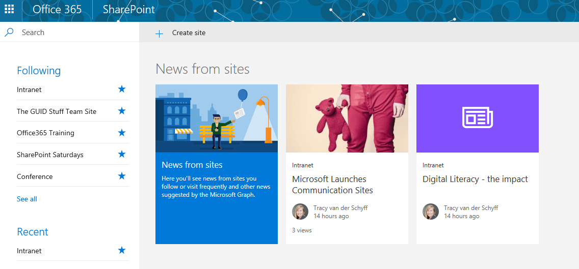 Week 6: Hitchhiker\'s Guide – SharePoint Communication Sites using ...