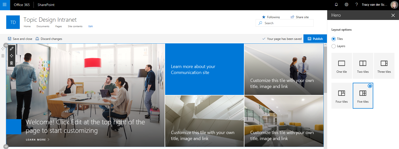 Microsoft365 Day 90 – A closer look at the 'super' hero web part in