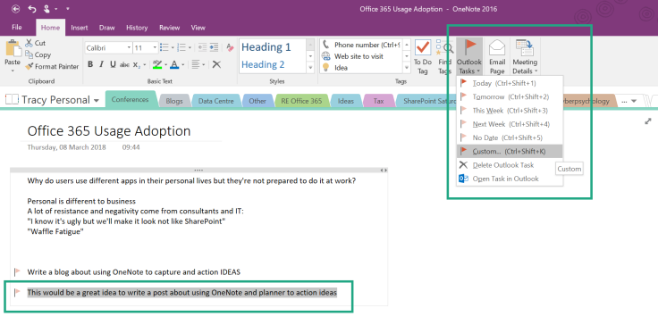 Microsoft365 Day 127 Action Ideas From Onenote With Outlook Flow Planner And Teams Tracy