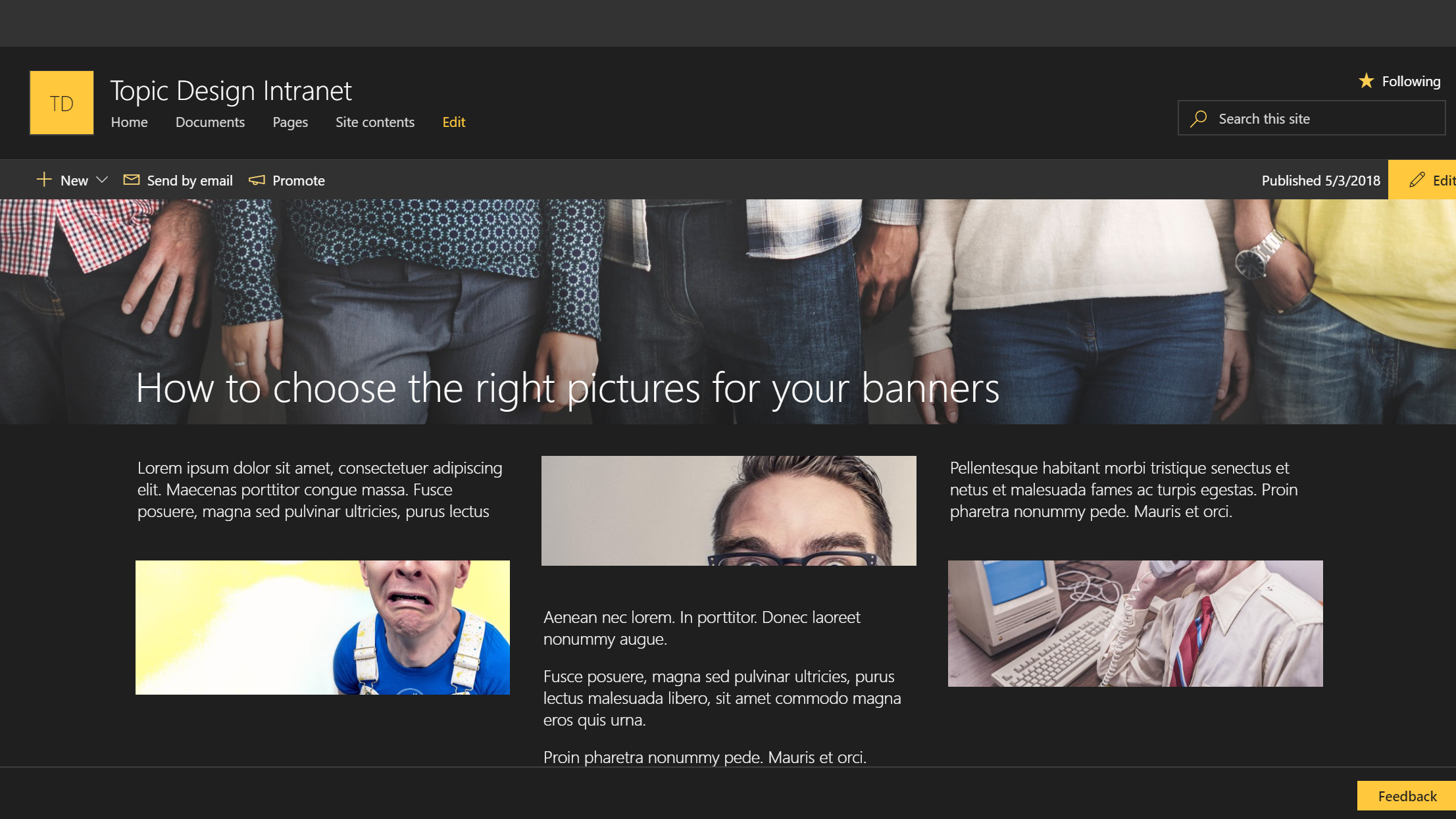 Microsoft365 Day 187: Creating Banners for your SharePoint Online ...