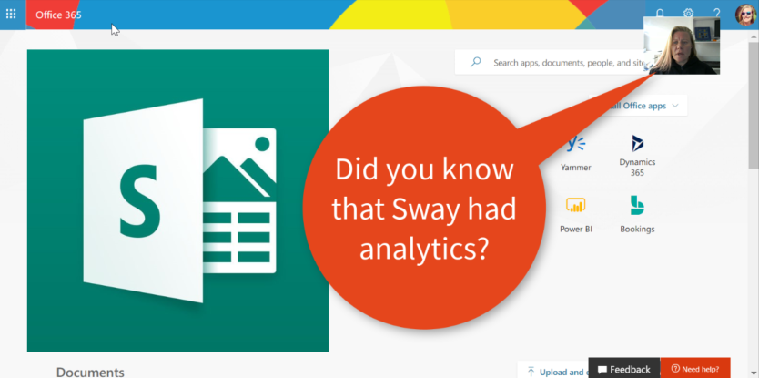 Microsoft365 Day 351: Did you know Sway had Analytics